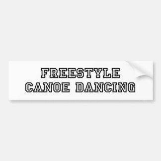 Parachoque del baile de la canoa del estilo libre pegatina para auto