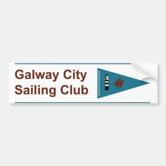 Parachoque del club de la navegación de la ciudad pegatina para auto