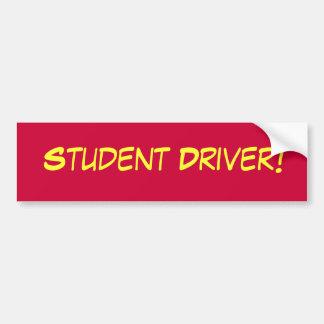 Parachoque del conductor del estudiante más enferm pegatina para auto