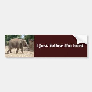 Parachoque del elefante asiático o pegatina del si pegatina para auto