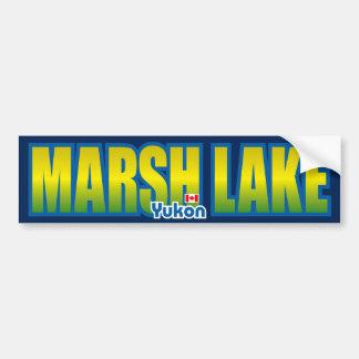 Parachoque del lago marsh pegatina para auto