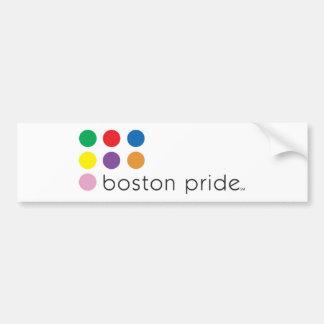Parachoque del orgullo de Boston Pegatina Para Auto