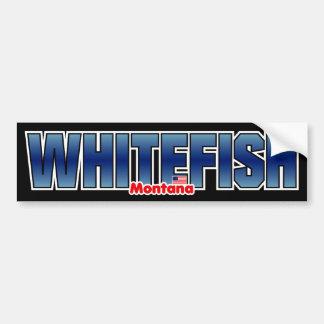 Parachoque del pescado blanco pegatina para auto
