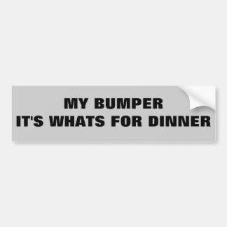 Parachoque es cuál está para la cena pegatina para auto