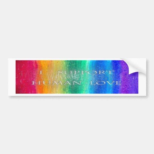Parachoque humano sticker.jpg del amor pegatina de parachoque