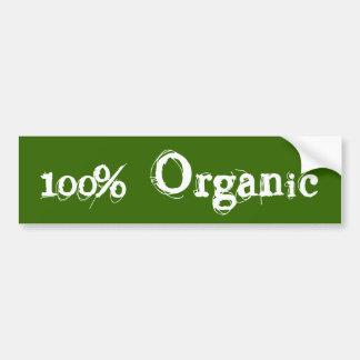 Parachoque orgánico del 100% pegatina para auto