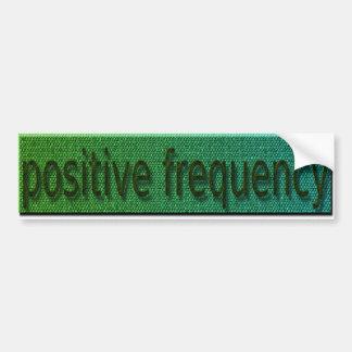 parachoque positivo de la frecuencia pegatina para auto
