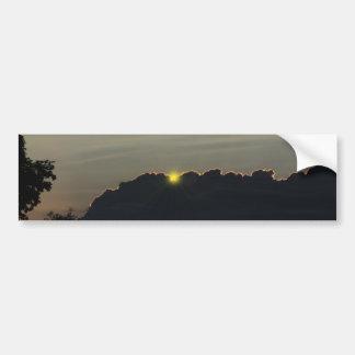 Parachoque prometedor del ~ de la salida del sol pegatina para auto