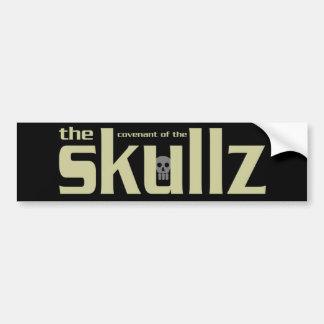 Parachoque Skicker de Skullz Pegatina Para Auto