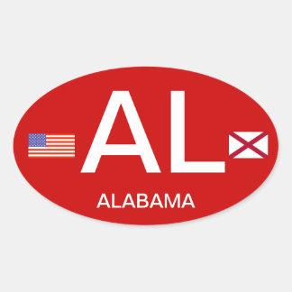 Parachoque Sticker* del Europeo-estilo de Alabama* Calcomania De Ovaladas