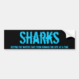 Parachoque v1 del tiburón pegatina para auto