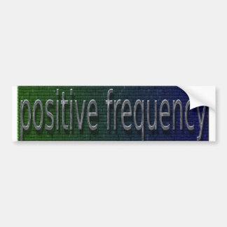 parachoques positivos de la frecuencia pegatina para auto