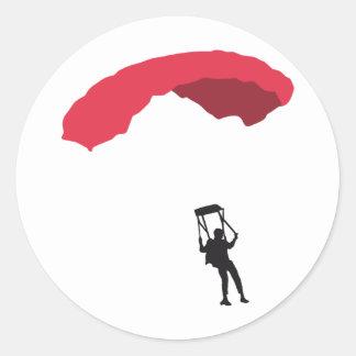 parachute 3c classic round sticker