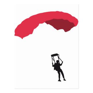 parachute 3c postcard