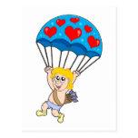 Parachute Cupid Postcard