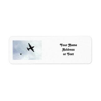 Parachute Drop EC-130H Compass Call Return Address Label