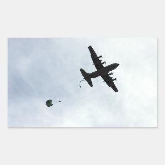 Parachute Drop EC-130H Compass Call Rectangular Sticker
