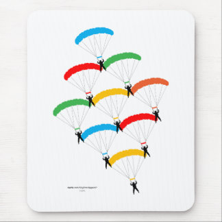 Parachute Formation Mouse Pad