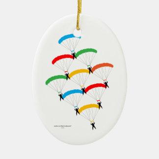 Parachute Formation Christmas Tree Ornaments