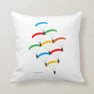 Parachute Formation Throw Pillows