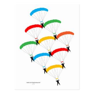 Parachute Formation Postcard