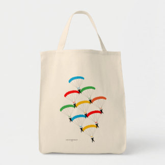 Parachute Formation Tote Bag