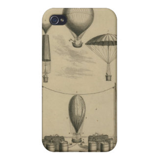 Parachute Illustration iPhone 4/4S Cover