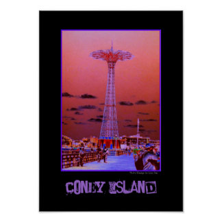 Parachute Jump Psychedelic Poster
