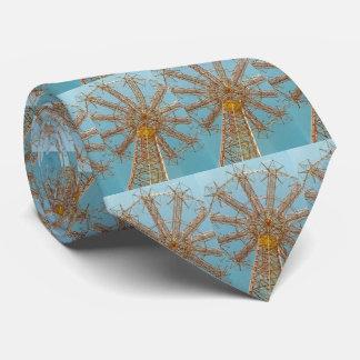 Parachute Jump Tie (Blue/Gold)