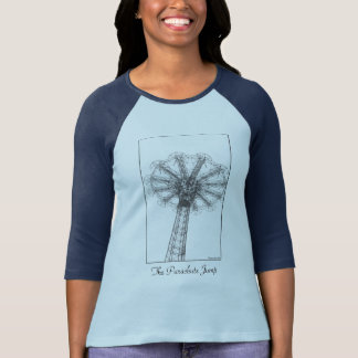 Parachute Jump Tower Ladies' 3/4 Slve Raglan T T-Shirt