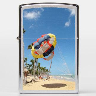 Parachute on the Beach Zippo Lighter