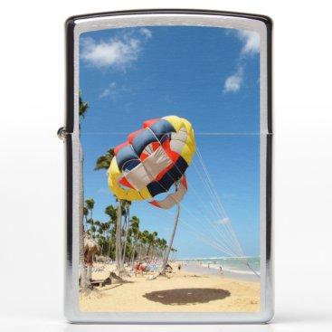 Beach Themed Parachute on the Beach Zippo Lighter