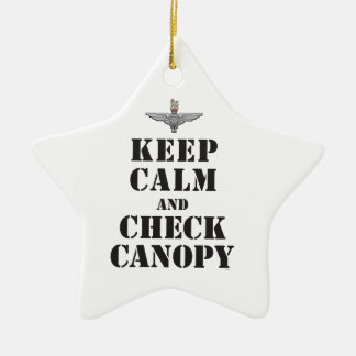 PARACHUTE REGIMENT - KEEP CALM AND CHECK CANOPY CERAMIC ORNAMENT
