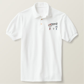 Parachute Scene Embroidered Polo Shirt