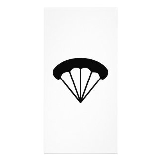 Parachute skydiving personalized photo card
