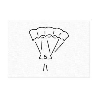 parachute Springer paraglider more paraglider Canvas Print