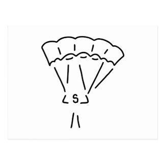 parachute Springer paraglider more paraglider Postcard