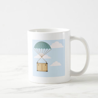 Parachute with a package coffee mug