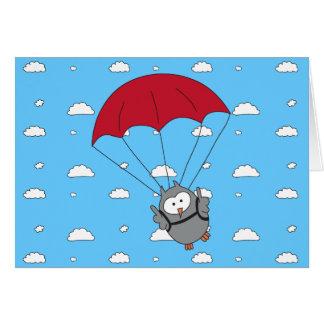 Parachuter Hooter Greeting Card