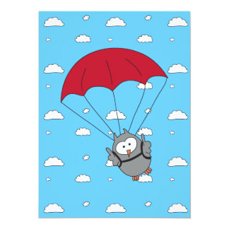 Parachuter Hooter Personalized Invitations