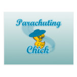Parachuting Chick #3 Postcard