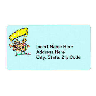 Parachuting Dog Shipping Label