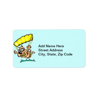 Parachuting Dog Address Label