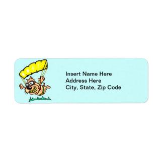 Parachuting Dog Return Address Label