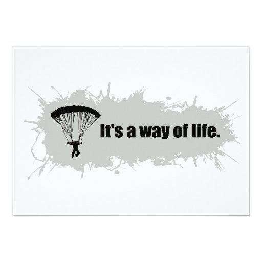 Parachuting is a Way of Life Invite