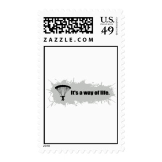 Parachuting is a Way of Life Postage