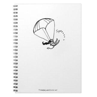 Parachuting Jaguar Artist Notebook! Spiral Notebook