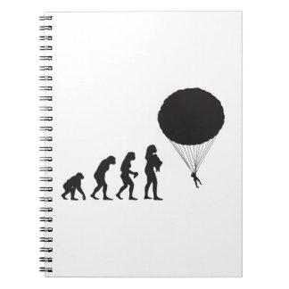 Parachuting Notebook