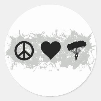 Parachuting Round Sticker