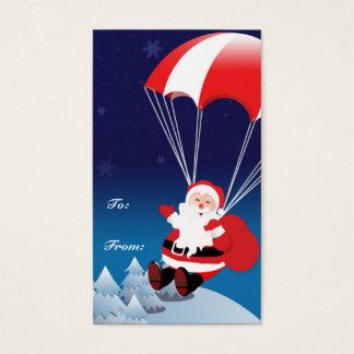 Parachuting Santa Business Card